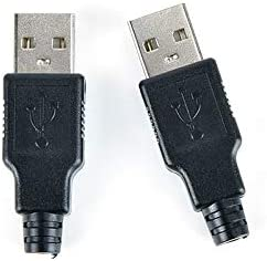 Gimax USB 2.0 PCB SDA Data Cable Line USB Type A Male 4 Pin Plug Socket Connector With Black Plastic Cover Adapter Connect Whosesale Color: 10pcs