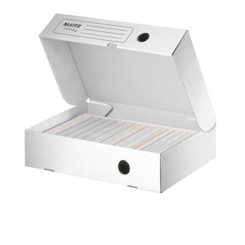 Leitz Archivbox Infinity, horizontal, 80mm, weiß