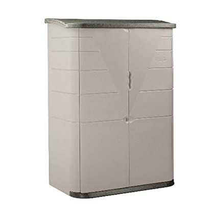 Phenomenal Rubbermaid Plastic Vertical Outdoor Storage Shed 52 Cubic Foot Beige Fg374601Olvss Squirreltailoven Fun Painted Chair Ideas Images Squirreltailovenorg