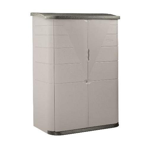 - Rubbermaid Plastic Vertical Outdoor Storage Shed, 52-Cubic Foot, Beige (FG374601OLVSS)