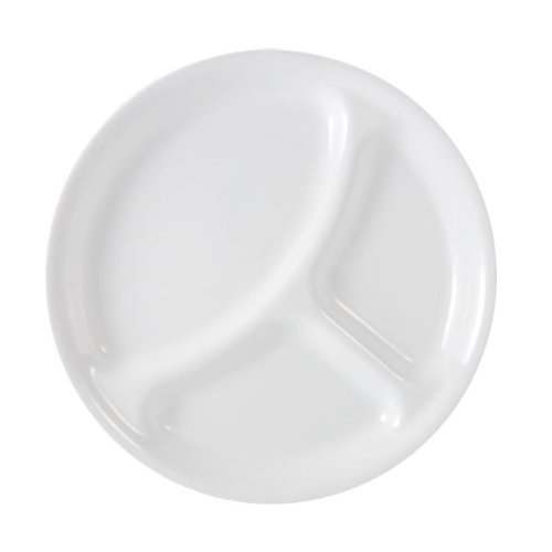 Corelle Livingware Divided Plate, 10-1/4-Inch, Winter Frost White (Clearance Dinner Corelle Plates)