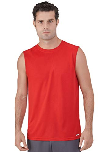 Russell Athletic Athletic Tank Top - Russell Athletic Men's Dri-Power Performance Mesh Sleeveless Muscle, True Red, 3XL