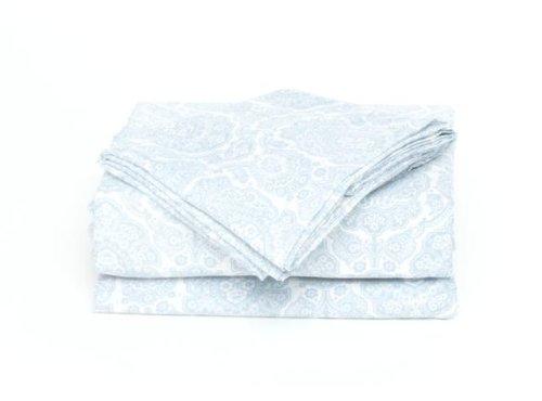 U.S. POLO ASSN. Damasco Azul Impreso Microfibra Juego de sábanas ...