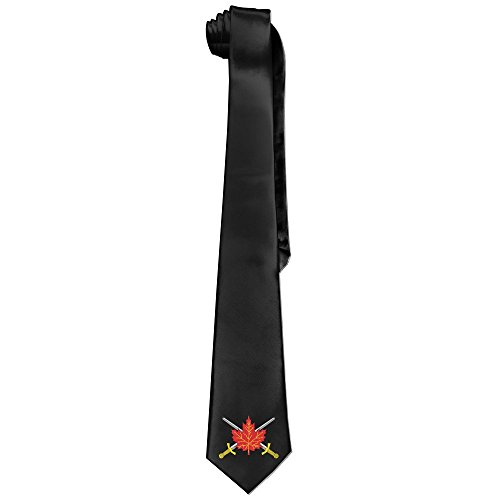 Military Blazer Badges (GGMMok Men's Canadian Army Badge Skinny Tie White)