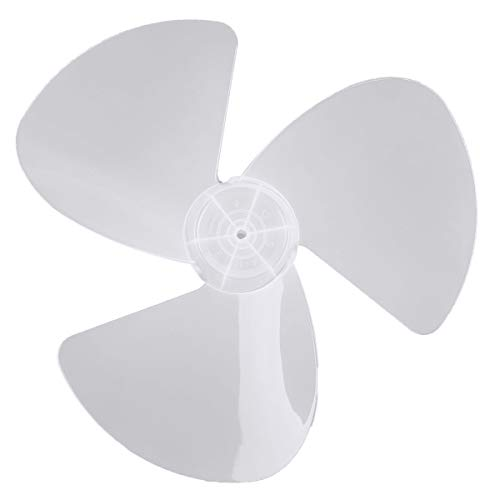 CHICTRY 16 Inch Fan Blade 3 Leaves Plastic White Fan Blade Replacement for Household Standing Pedestal Fan Table Fanner General Accessories without Fan Nut One Size