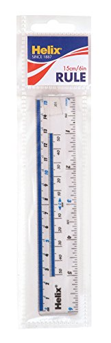 Helix Shatter Resistant Ruler 6 Inch / 15cm (10011) - Tft Flat Panel Display Accessories