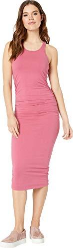 - Michael Stars Women's Cotton Lycra Racerback midi Dress, Desert Rose, Extra Small