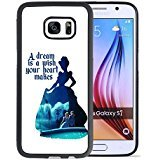 Disney Cinderella Samsung Galaxy S7 Case, Onelee[Neverfade] Cinderella Samsung Galaxy S7 Case Black Soft Rubber TPU and PC Case,[Scratchproof][Drop Protection] - Disney Cell Phone Cases