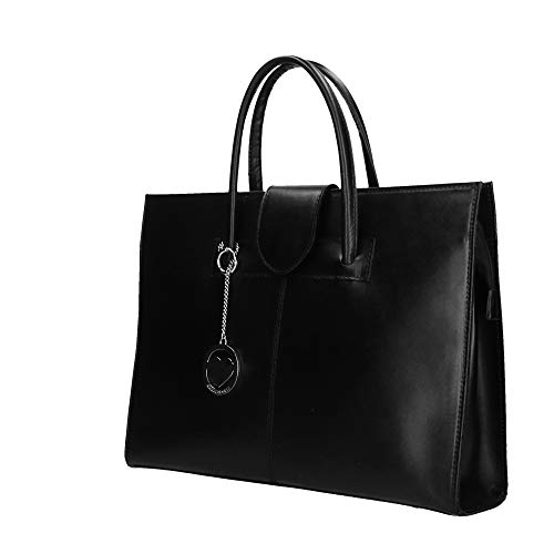 Cm Borse Made Pelle Portadocumenti Bag A Italy Nero Borsa Chicca 40x30x10 In Mano BfTSwq