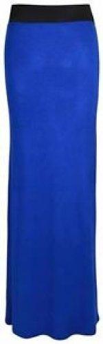 maxi dress plaine jupes longues jupes en jersey stretch blue