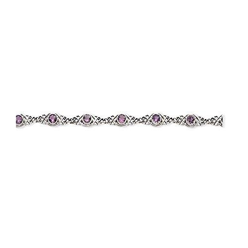 Icecarats Créatrice De Bijoux En Argent Sterling Bracelet Améthyste En 7,25 Pouces