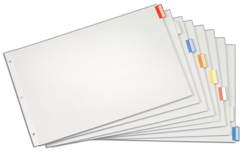 Cardinal Paper Insertable Dividers, 8-Tab, 11 x 17 Inches, M