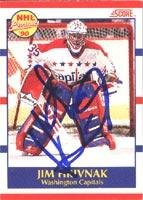 4aa5c04e530 Jim Hrivnak Washington Capitals 1990 Score Prospect Autographed Card -  Rookie Card. This item comes
