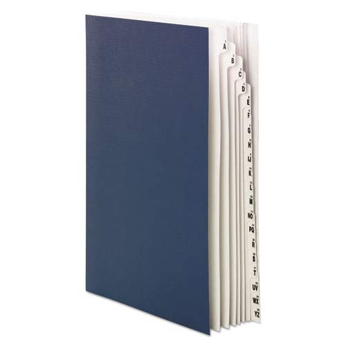 - Expandable Indexed Sorter, 1-20/A-Z Index, Legal Size, Navy Blue