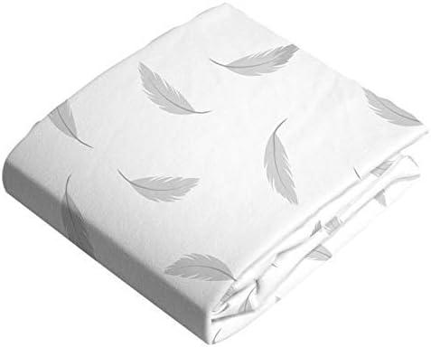 Grey Feathers Kushies Crib Sheet