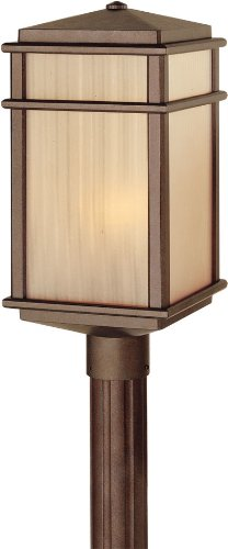Feiss OL3408CB Mission Lodge Outdoor Post Lighting, Bronze, 1-Light (9″W x 19″H) 150watts