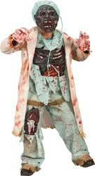 [Zombie Doctor Child Halloween Costume Size 4-6] (Kids Zombie Doctor Costumes)