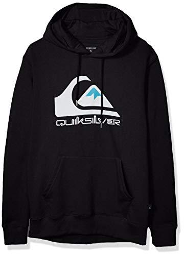 Quiksilver Men's Omni Logo Screen Fleece Pullover, Black, S (Quiksilver Headphones)