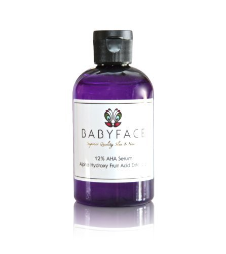 BABYFACE Potent 12% Alpha Hydroxy Acid (AHA) Glycolic Serum - Wrinkles, Skin Tightening, Smoothing, Uneven Complexion - Large/4.4 oz.