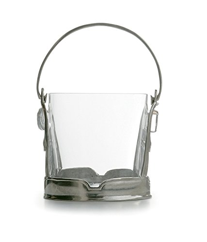 Arte Italica Taverna Crystal Ice Bucket with Handle, Clear by Arte Italica