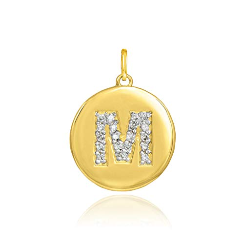 Solid 14k Yellow Gold Initial Letter