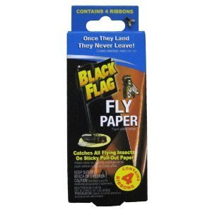 Black Flag Fly Adhesive Paper