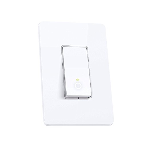 Large Product Image of TP-Link Smart Wi-Fi Light Switch, No Hub Required, Single Pole, Requires Neutral Wire, Works with Alexa and Google Assistant (HS200)