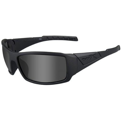 Wiley X Twisted Black Ops Sunglasses, Smoke Grey, Matte - Black Sunglasses Ops