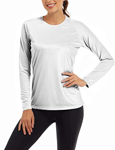 MAGCOMSEN Women Long Sleeve Shirt UPF 50+ Sun Protection for Yoga,Workout,Hiking