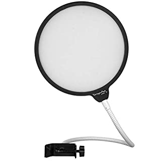 """Dragonpad USA- 6"""" Microphone Studio Pop Filter with Clamp - BLK/WHT"""