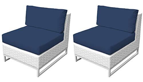 TK Classics TKC047b-AS-DB-NAVY Miami Seating Patio Furniture, Navy (Clearance Furniture Patio Miami)