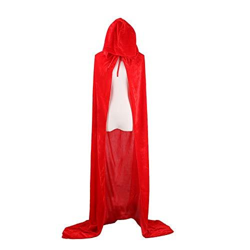 Fnbgl Unisex Hooded Cloak Full Length Velvet Hooded Cape for Halloween Christmas Cosplay Costumes 59
