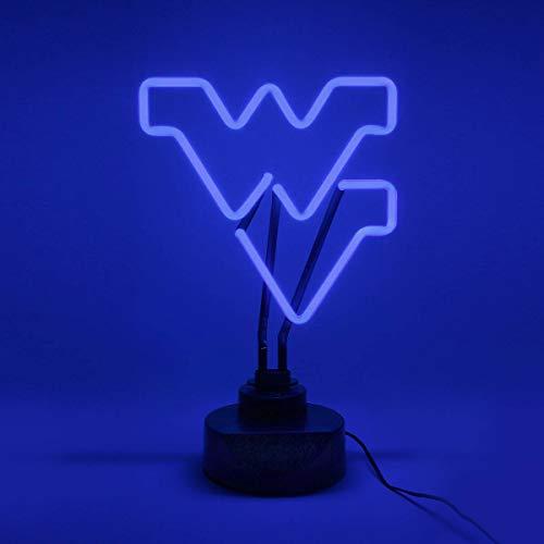 (Collegiate Neons NCAA West Virginia Mountaineers Neon Sign, Medium, Blue)