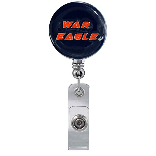 SANDOL Auburn University War Eagle Retractable Badge Reel