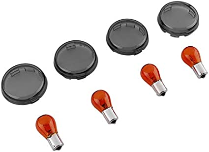Newgreenca Signal Verre De Clignotant Et Ampoule Pour Harley Davidson Sportster Softail Amazon Fr Auto Et Moto