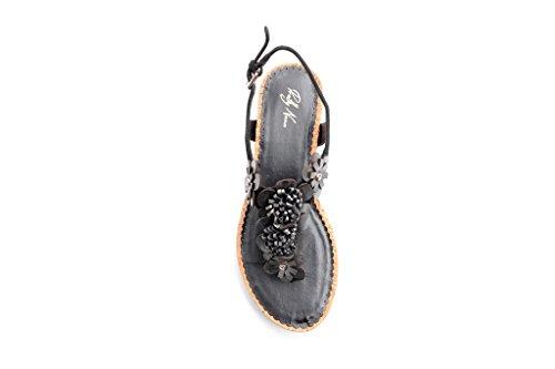 Mujer Correa Pretty Con Negro Zapatos Nana Sg4q5