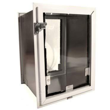 Hale Pet Door Wall Model Medium White Single Flap ()