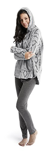 Ink+Ivy Womens Hooded Sweatshirt Cotton Leggings Set Forged Iron Grey S