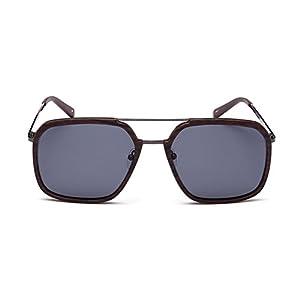 "PRIVÉ REVAUX ""The Shark"" Handcrafted Designer Polarized Brow Bar Sunglasses For Men & Women (Woodgrain)"