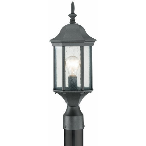 Thomas Lighting SL90507 Hawthorne Outdoor Post Lantern, Black