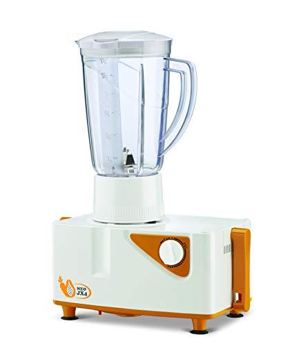 Bajaj Neo JX4 450-Watt Juicer Mixer Grinder with 2 Jars (White/Orange) 3