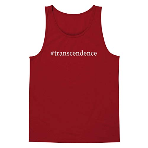 #Transcendence - A Soft & Comfortable Hashtag Men's Tank Top, Red, Medium