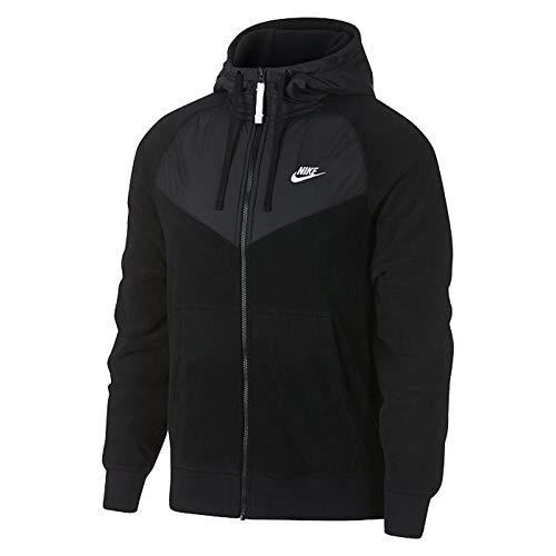 Nike Men's Sportswear Full Zip Hoodie Black/White