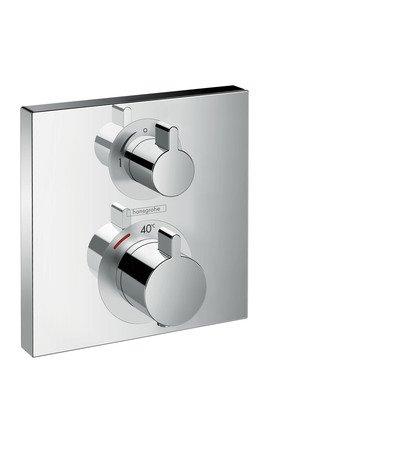 Hansgrohe Thermostat Unterputz Ecostat Square Fertigset 1 Verbraucher Chrom, 15712000
