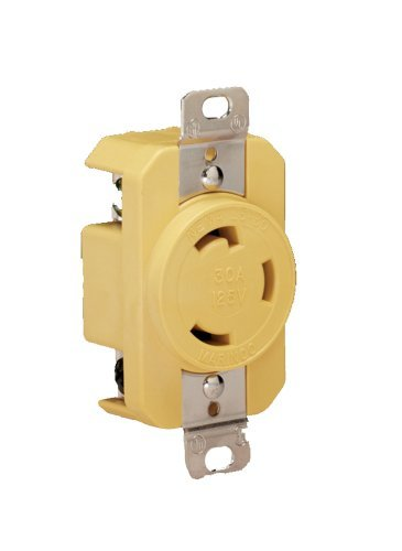 Marinco 305CRR Marine Electrical Receptacle (30-Amp, 125-Volt, Female, Yellow) by Marinco