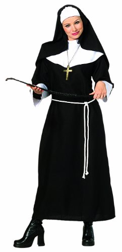 Priest Costume White (Rubie's Costume Complete Nun, Black, X-Large Costume)