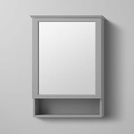 Ronbow 617124 Wyatt 24 Single Door Left Hinge Mirrored Medicine Cabinet With So Ocean Grey