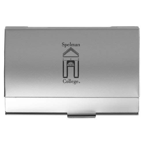 (Spelman College - Two-Tone Business Card Holder - Silver)