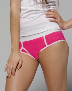 Bella 0304 Womens Cotton Spandex Boyfriend Brief - Fuchsia &