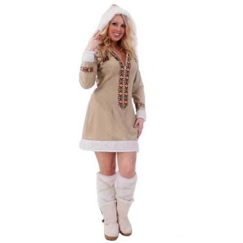 Party Discount Mujer Disfraz de Esquimal para Mujer, Vestido y ...
